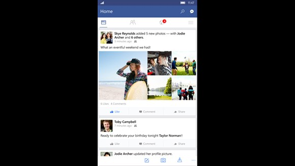 Update: Facebook App for Windows 10 Mobile available for