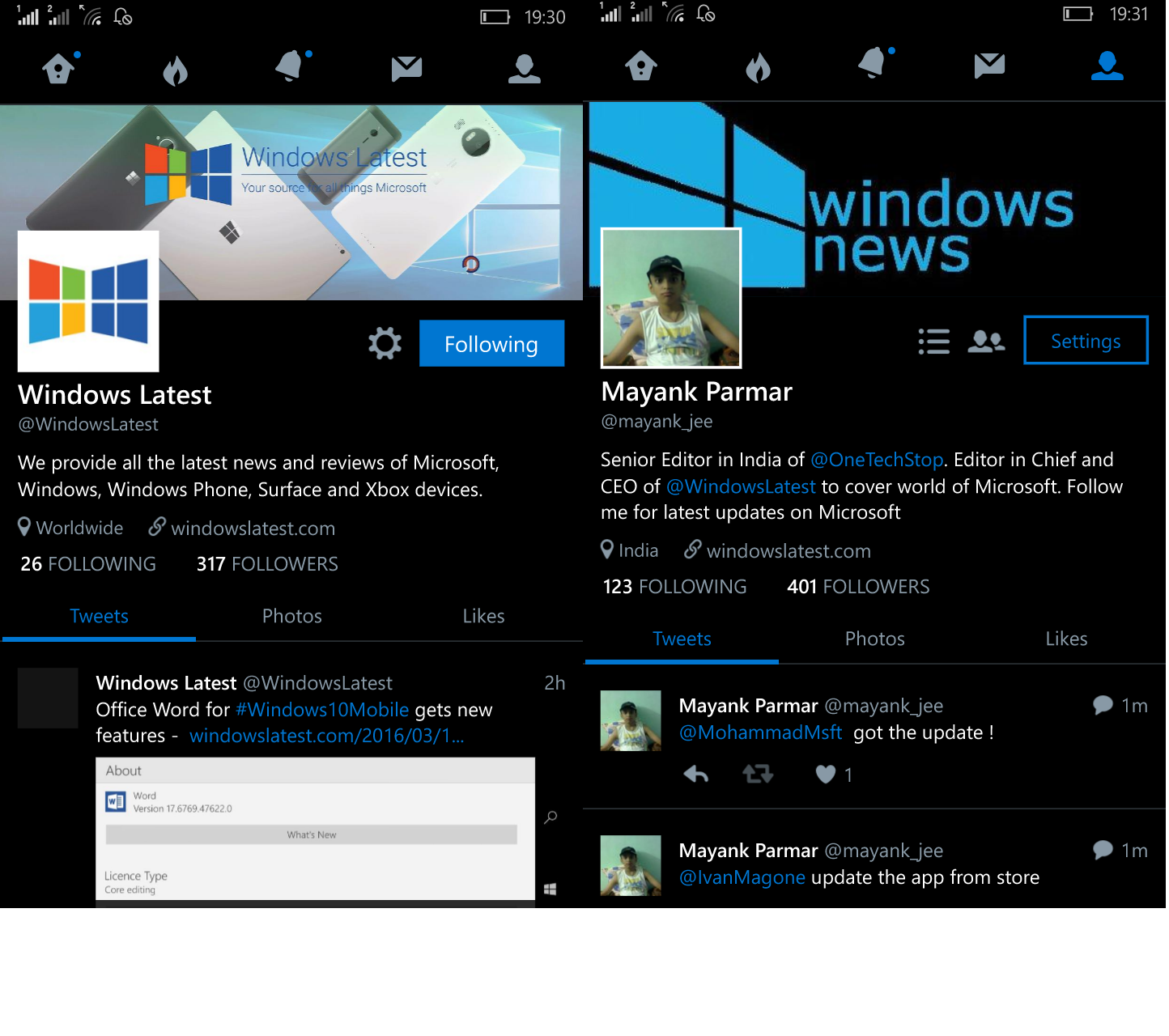 Twitter for Windows 10 Mobile available with new design ...