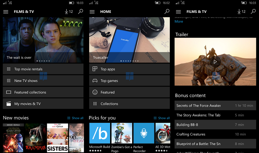 windows store for windows 10 mobile to get new ui. Black Bedroom Furniture Sets. Home Design Ideas