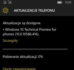 Windows 10 Mobile 10586.416 video