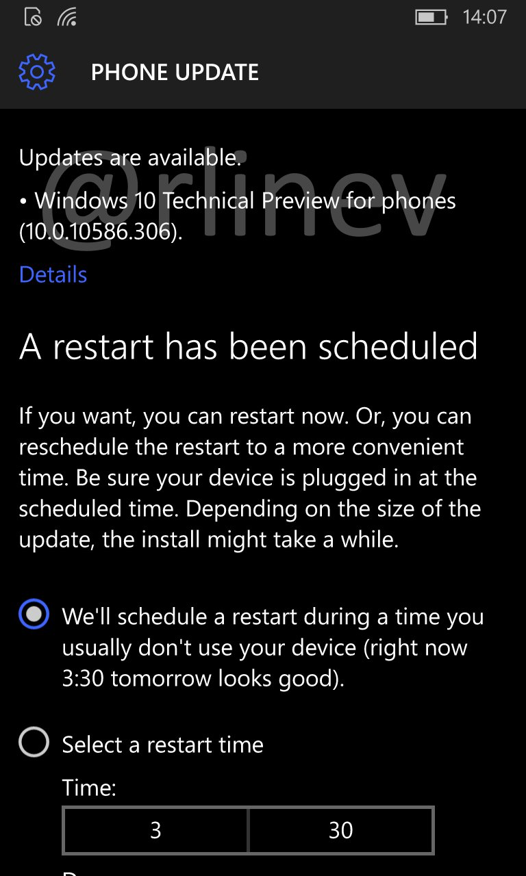Windows 10 Mobile Build 10586.306