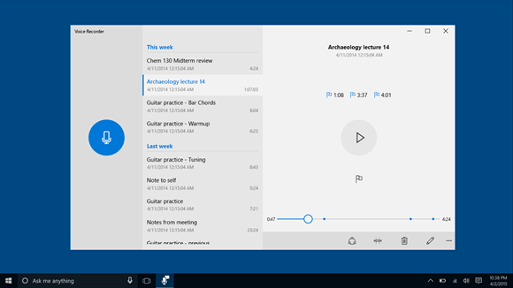 Voice Recorder for Windows 10 and Windows 10 Mobile ...