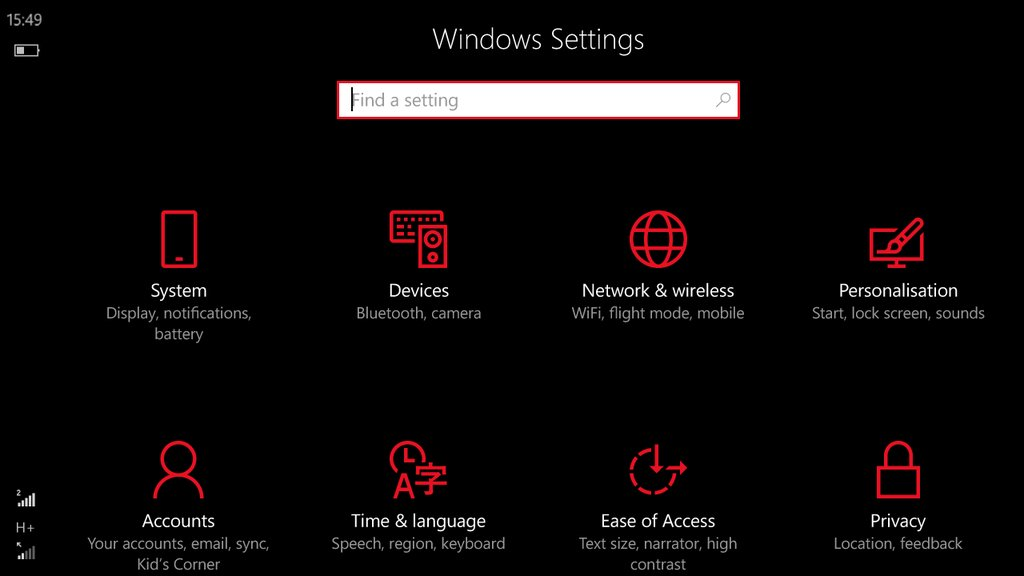 Windows 10 Mobile Build 14356