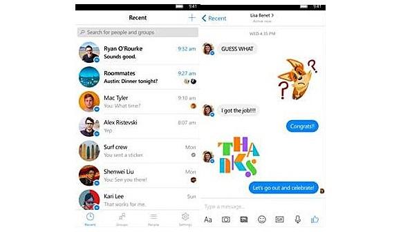 Facebook Messenger screenshot