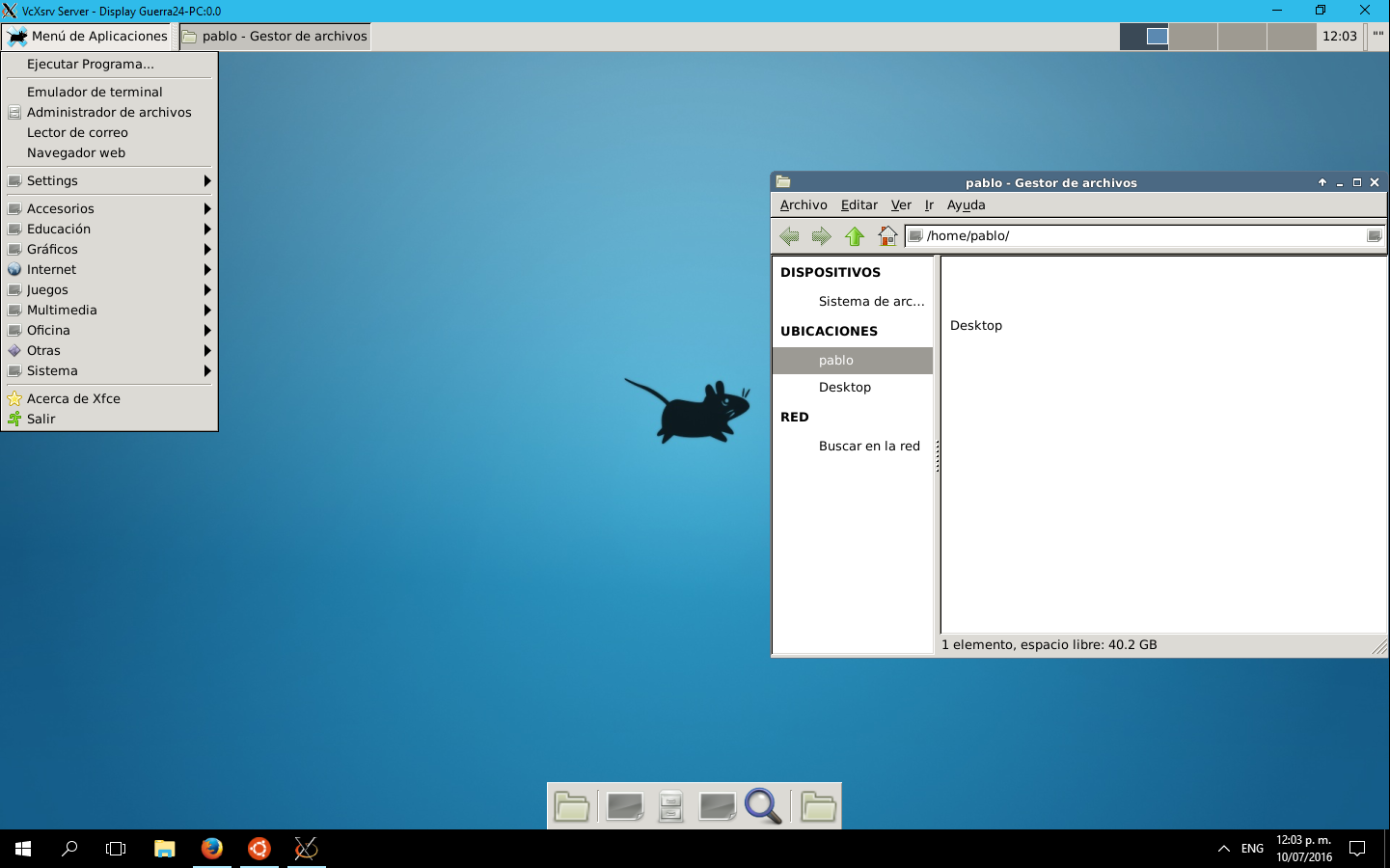 xfce4 in Windows