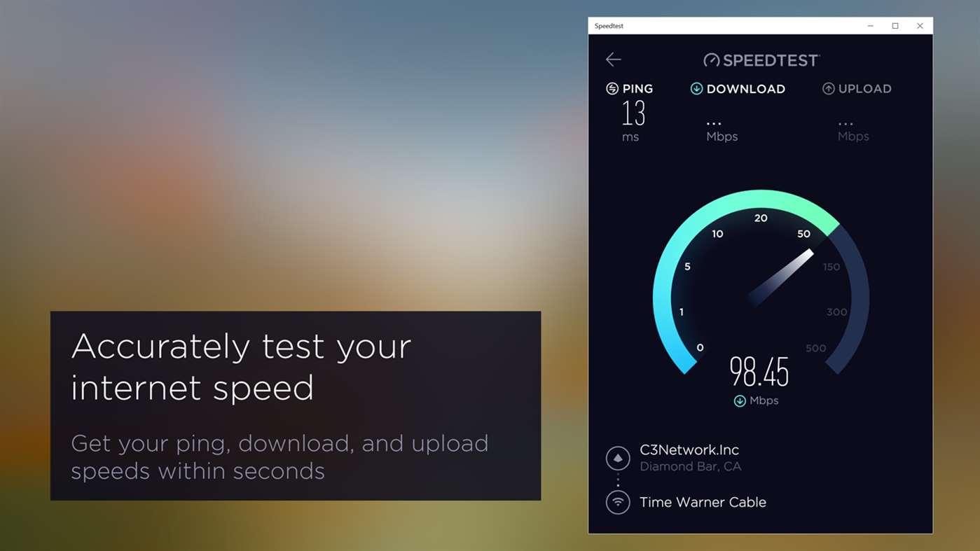 Ookla speedtest app for pc.