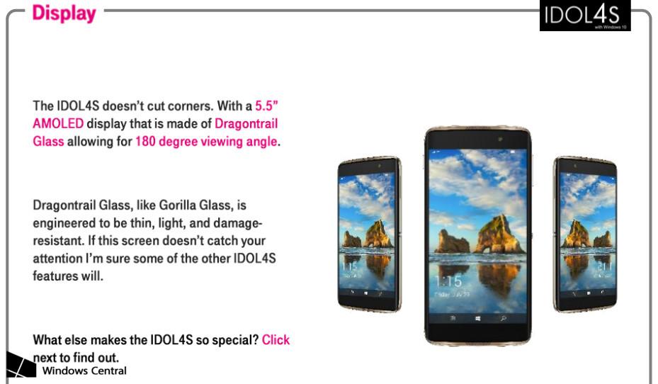 alcatel idol 4s confirmed training guide leaks rh windowslatest com Windows Mobile 6 Windows Mobile 2