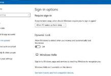 Dynamic Lock in Windows 10