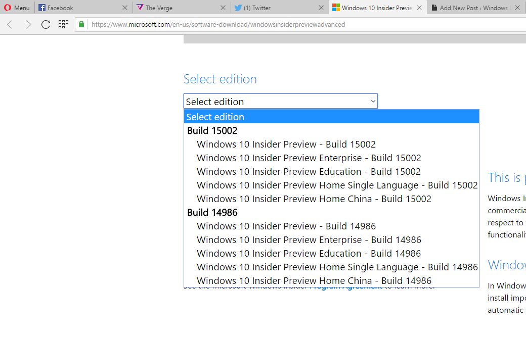 Microsoft releases Windows 10 Insider Preview Build 15002 ISO