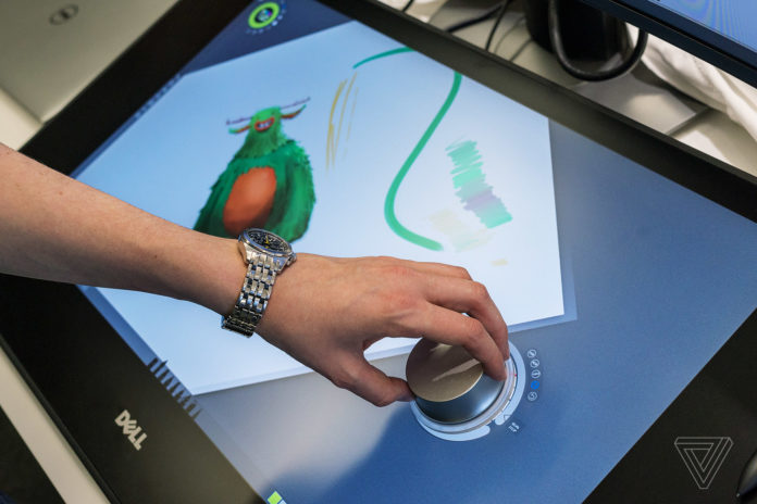 Dell Canvas (Image credit : The Verge)