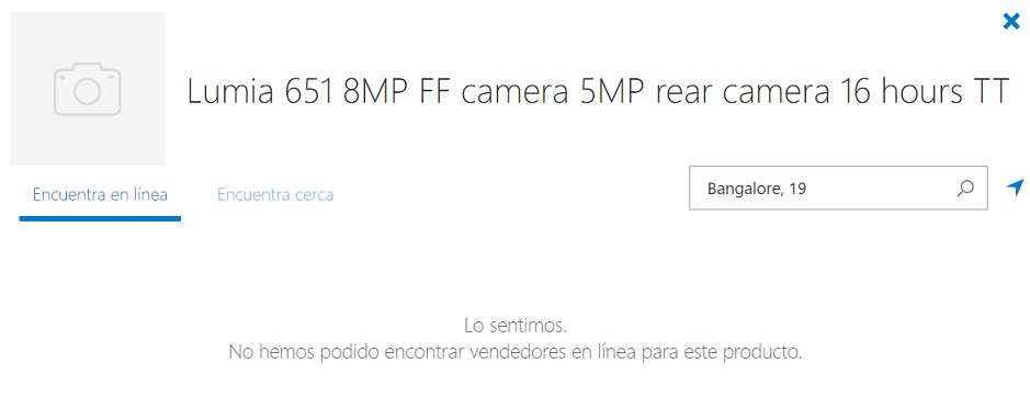 Lumia 651 listing