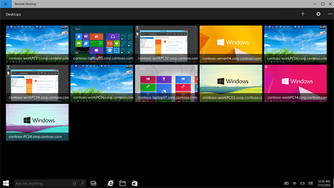 Microsoft Remote Desktop Preview App updated for Windows 10 devices