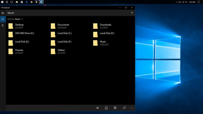 UWP File Explorer on Windows 10