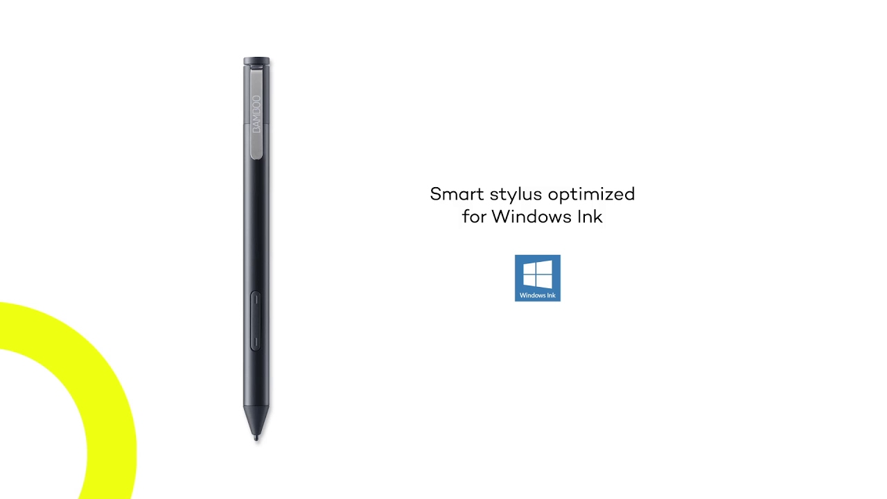A new smart stylus for Windows Ink compatible PCs 'Bamboo