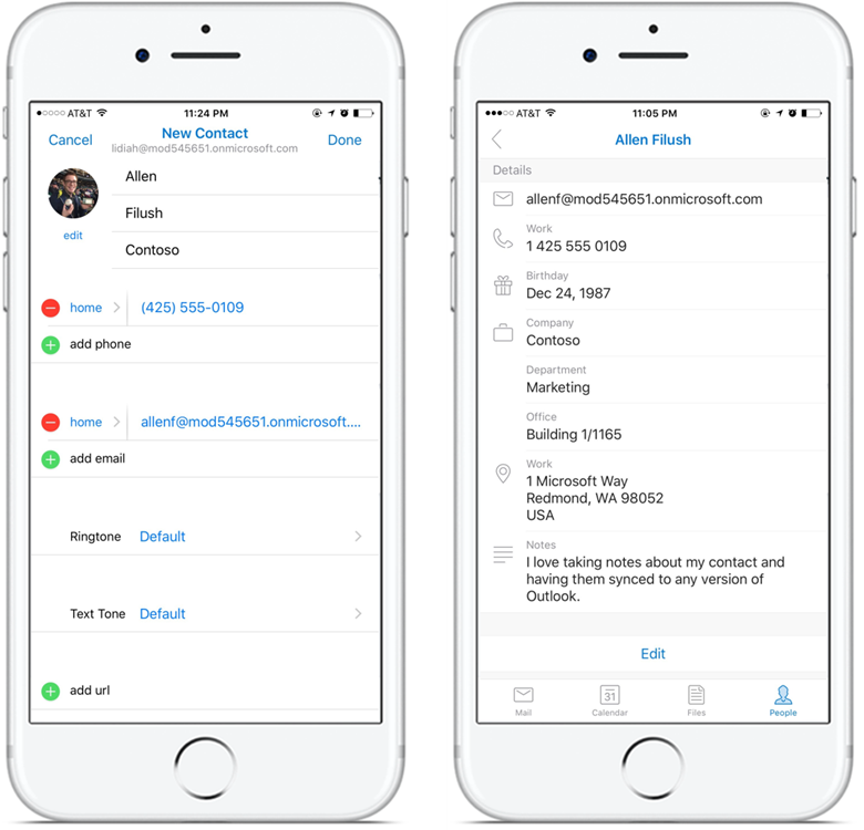You can now add and edit contacts in Outlook for iOS and ...