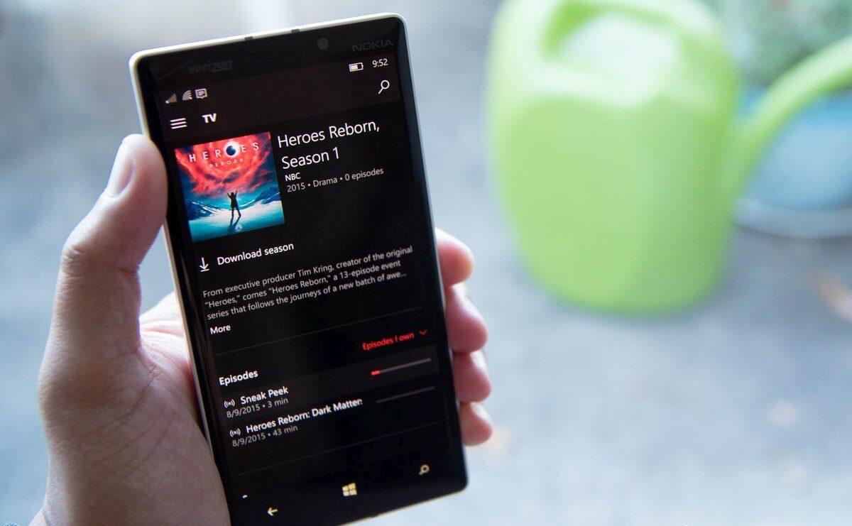 اپلیکیشن Movies & TV یک بروزرسانی بزرگ در ویندوز 10 موبایل دریافت کرد