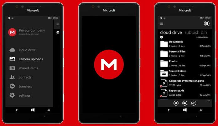 MEGA Privacy Beta for Windows 10 Mobile