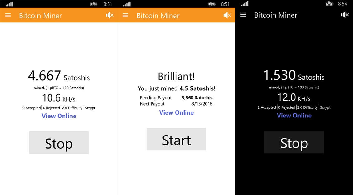 Bitcoin miner app updated for windows 10 mobile and pc users ccuart Image collections
