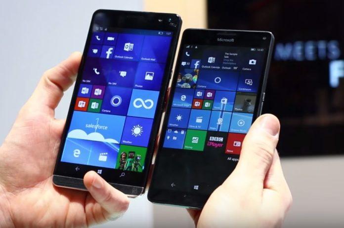 Windows 10 Mobile on Lumia 950 XL and HP Elite x3-min