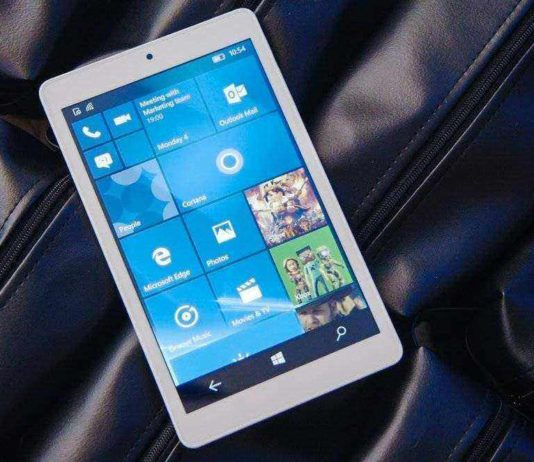 Cube Windows 10 Mobile tab