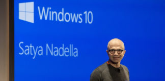 Satya Nadella in Windows 10 bg