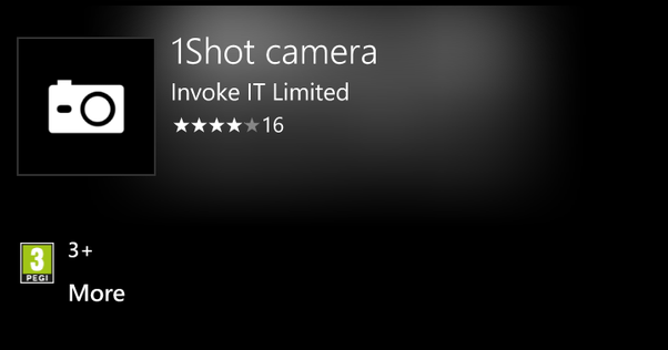 1Shot UWP Camera App updated for Windows 10 Mobile and PC