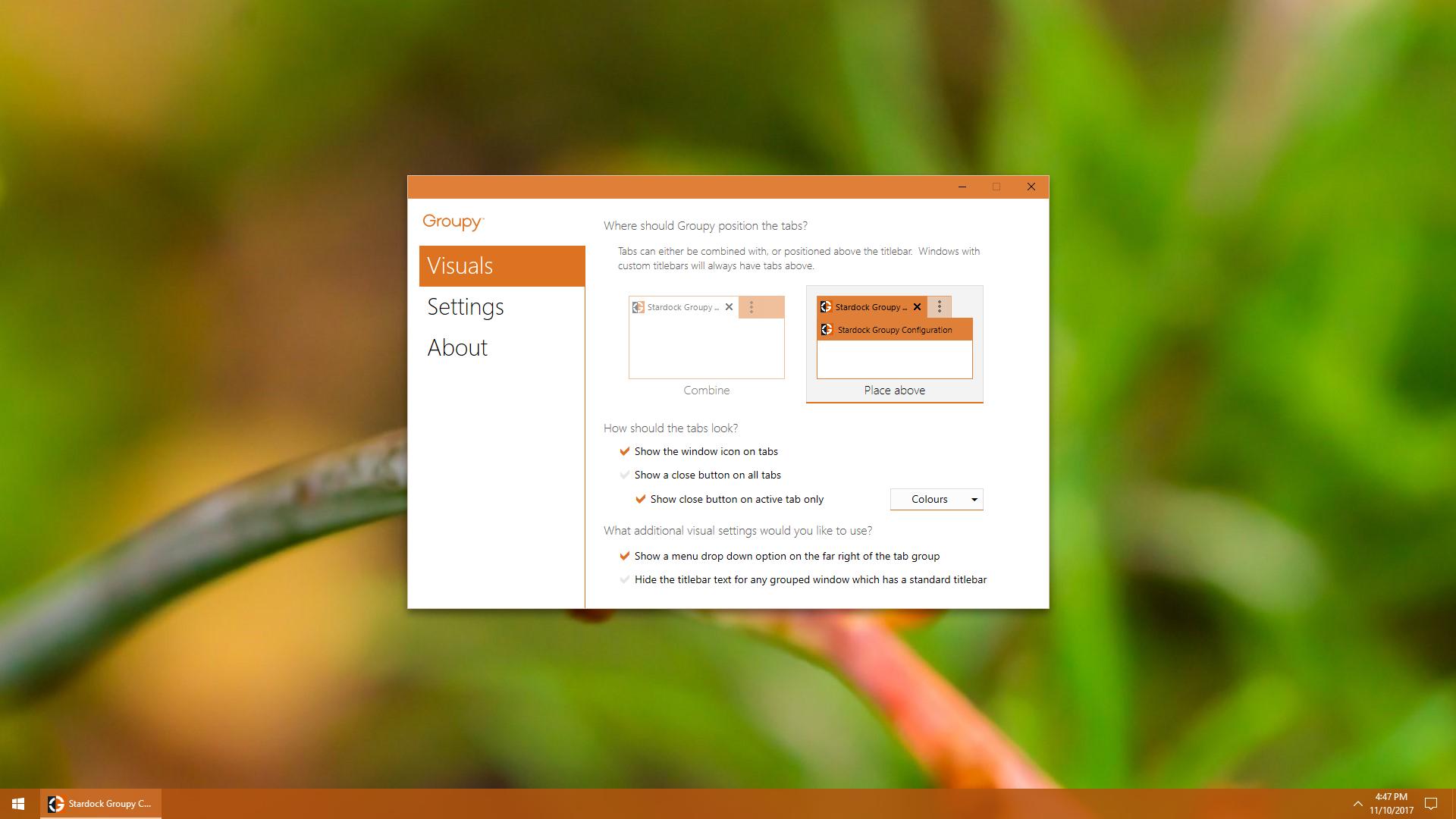 Stardock's Groupy app similar to Windows 10 upcoming