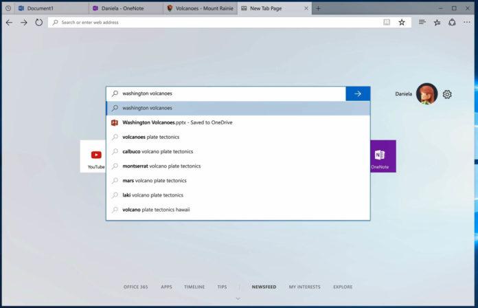 Windows 10 Sets interface
