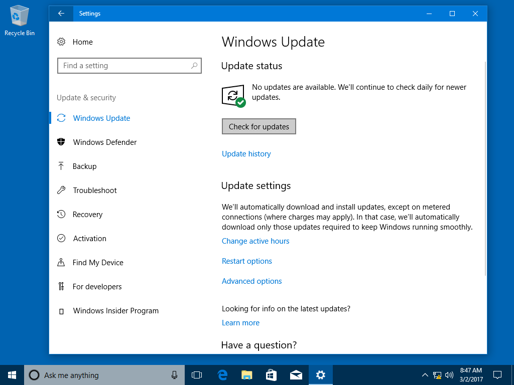 Direct download links for kb4088776 windows 10 build 16299309 windows update image courtesy microsoft ccuart Image collections