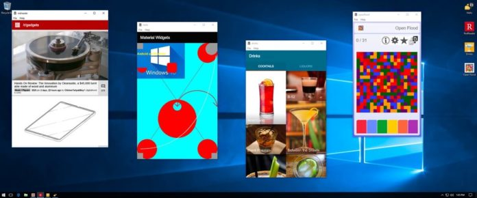 Android apps on Windows