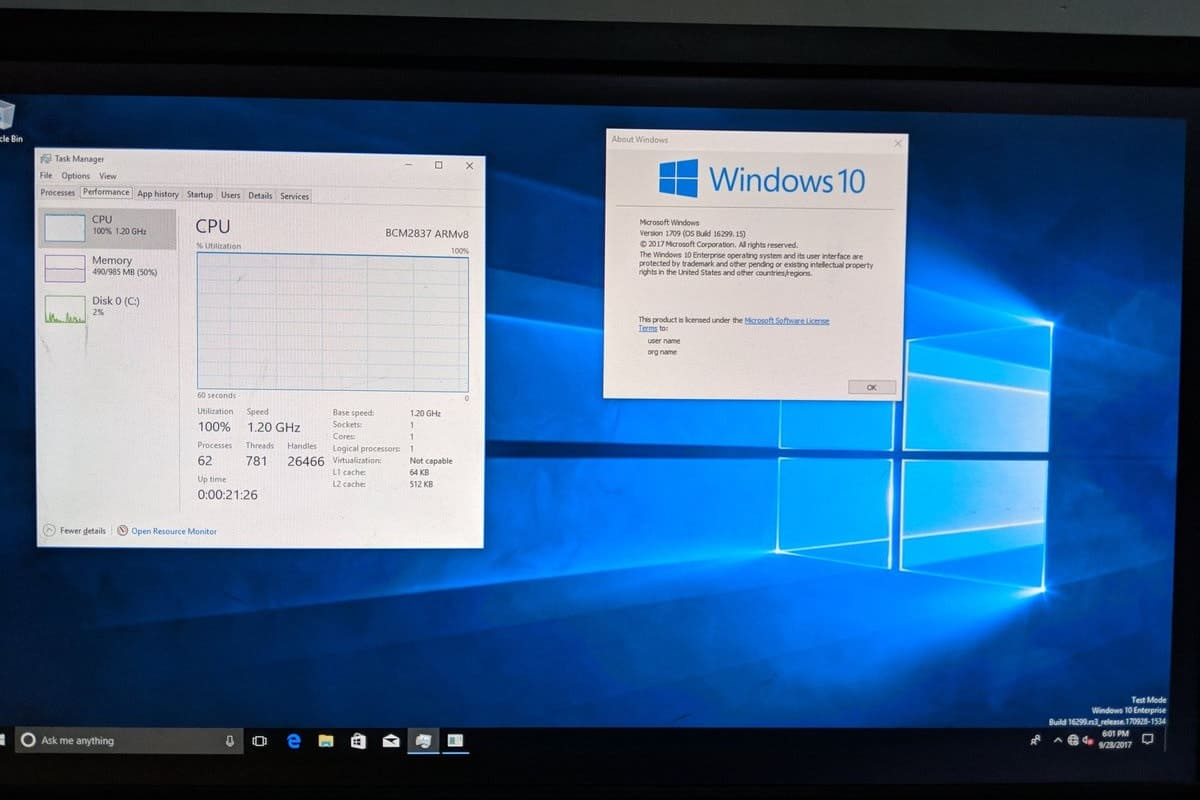 windows 10 on raspberry