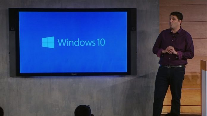 Terry Myerson on Windows 10 stage