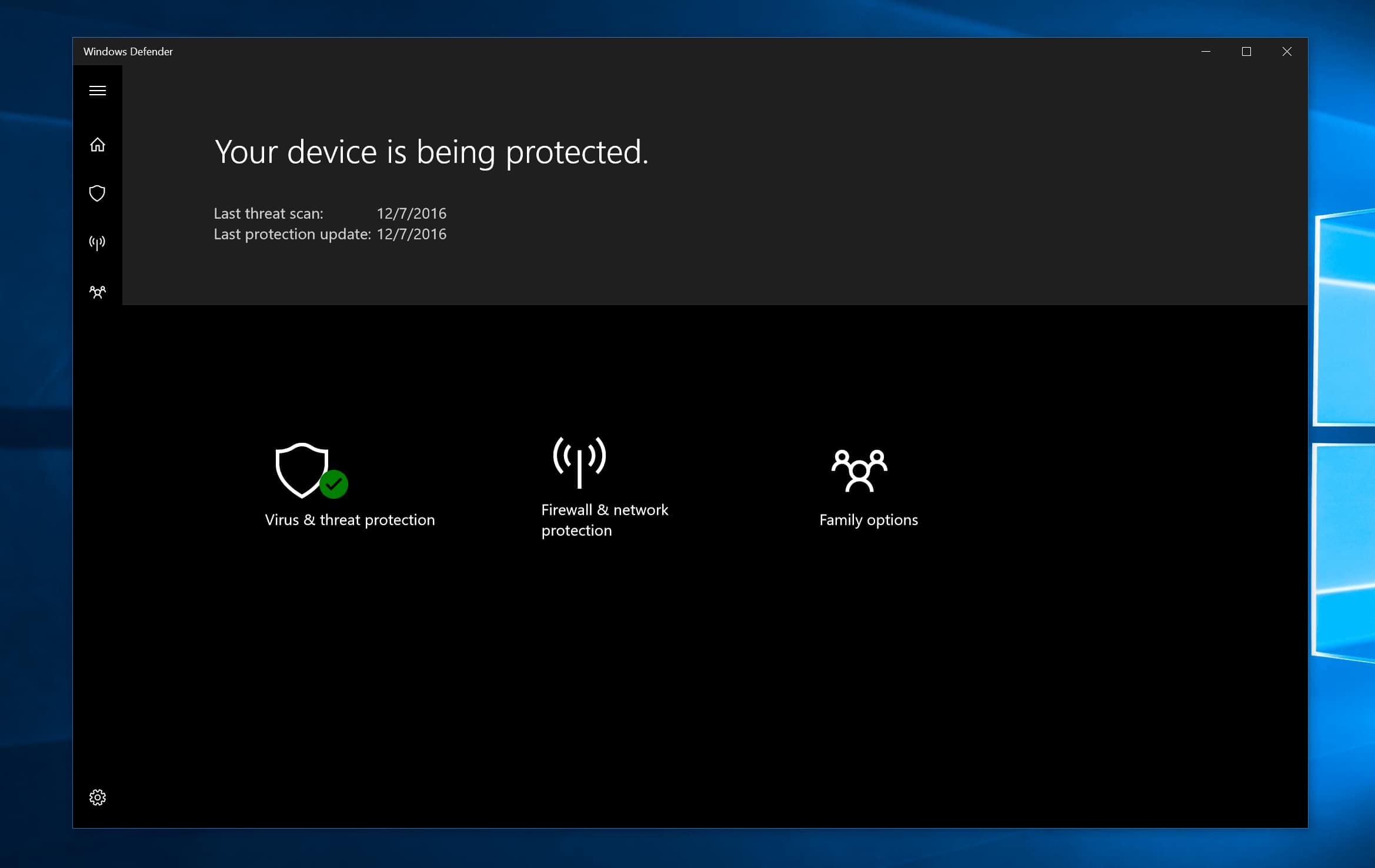 how to start windows 10 defender