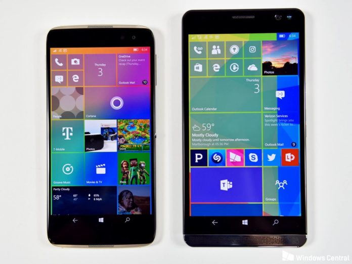 Alcatel IDOL 4S and HP Elite X3