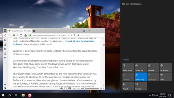 Clipping in Windows 10