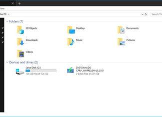 File Explorer with Dark Theme