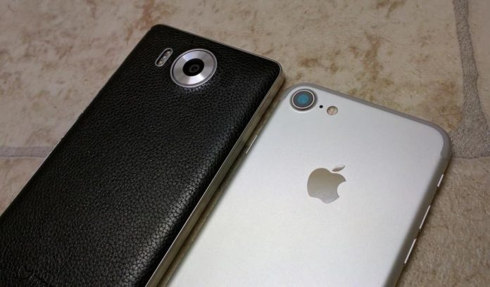 Lumia 950 vs iPhone 6
