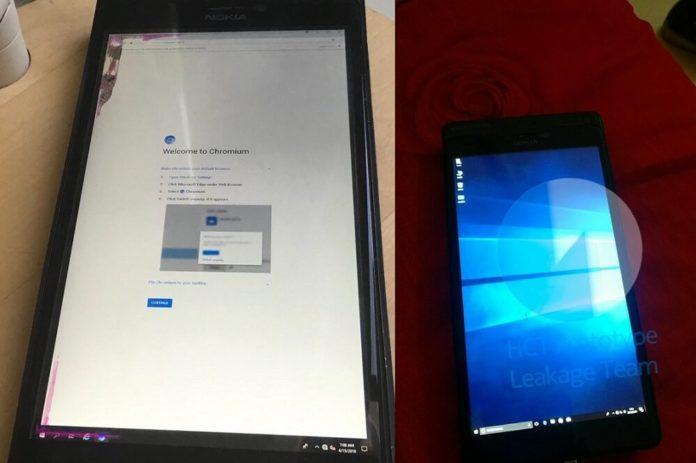 Lumia prototype with Google Chrome