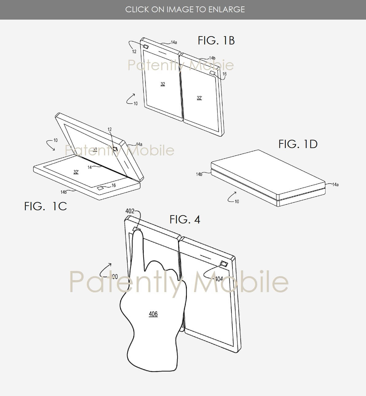 Microsoft's foldable display patent