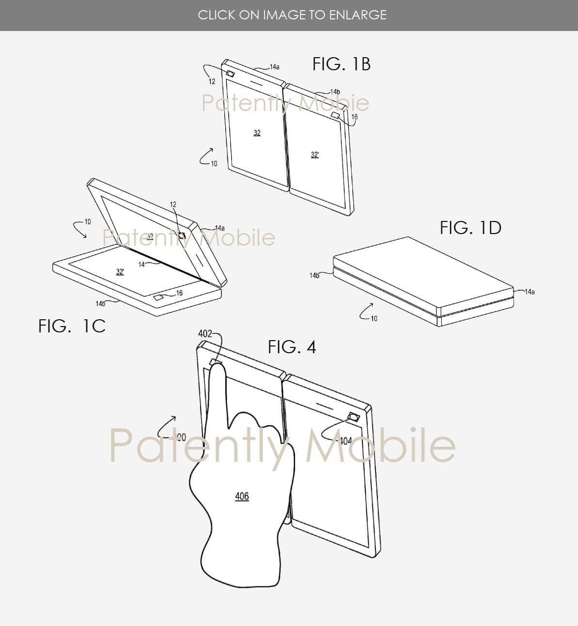 Microsoft's foldable display patent