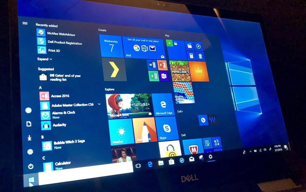 Start Menu In Windows on Power Off Windows 10