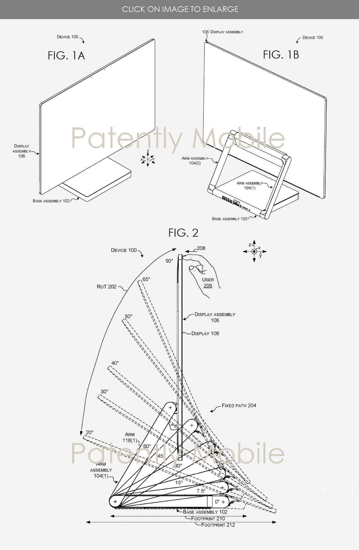 Surface Studio patent