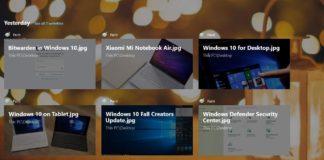 Timeline in Windows 10