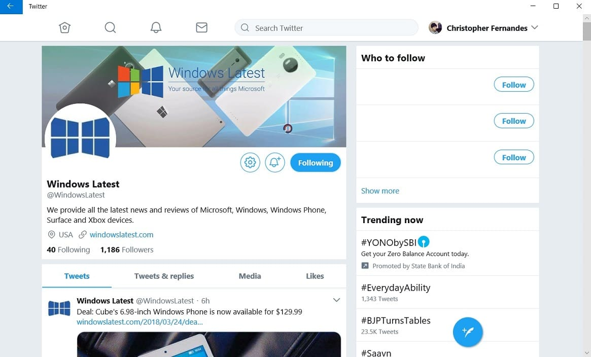 Twitter's PWA app for Windows 10 is getting a big update