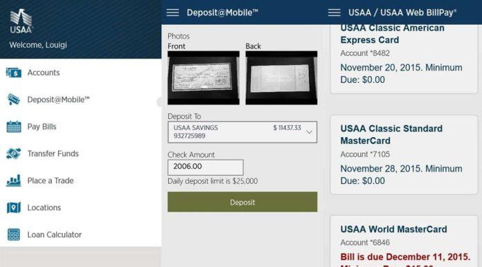 USAA for Windows Phone