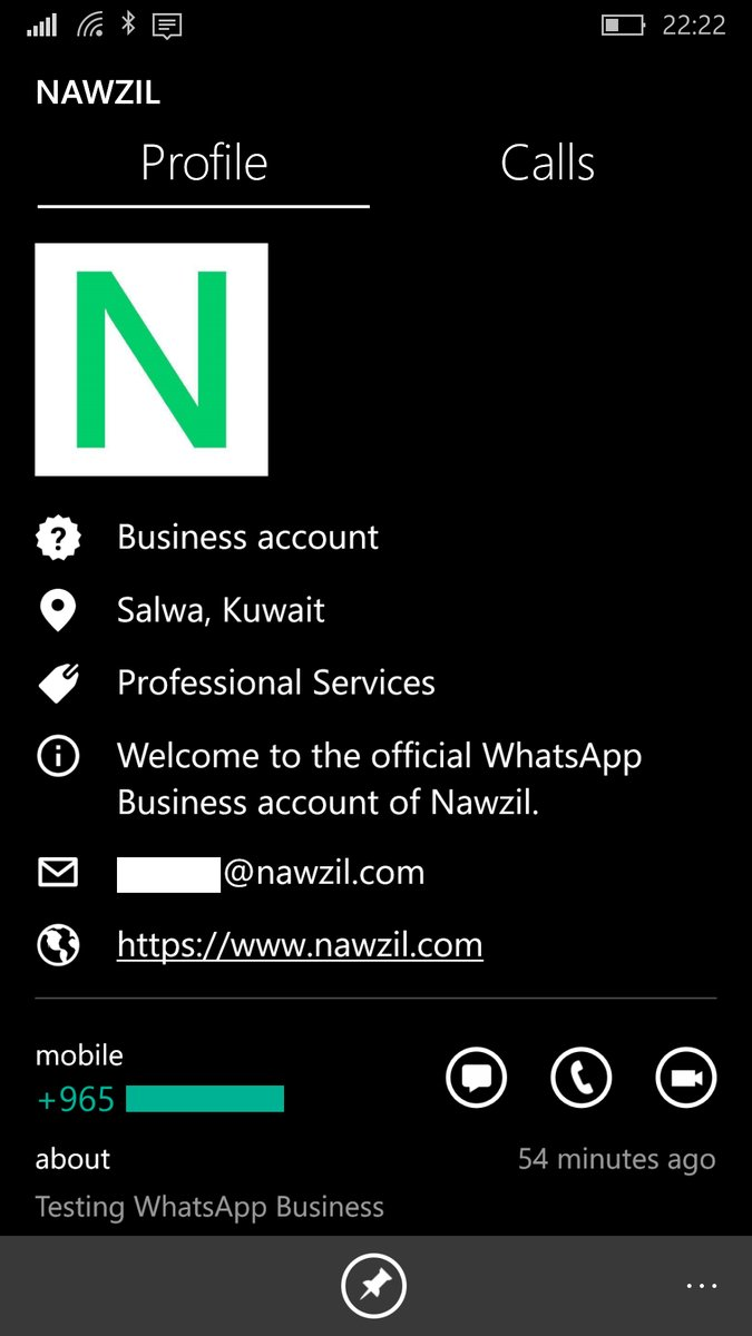 WhatsApp Business for Windows Phone