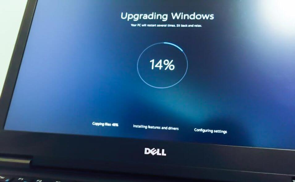 Windows 10 upgrade screen