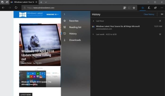 Fluent Design in Microsoft Edge