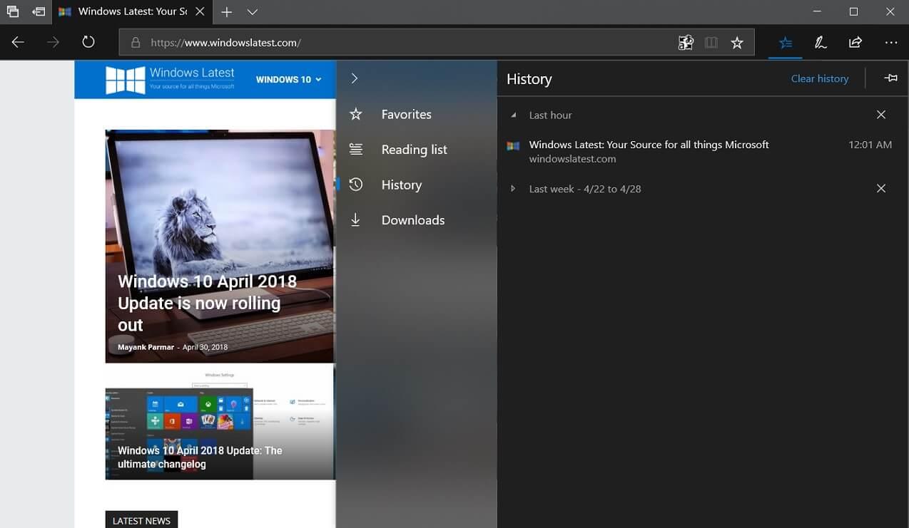 Fluent Design in Microsoft Edge
