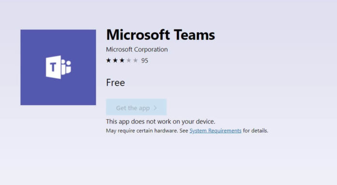Microsoft Teams for Windows 10 S